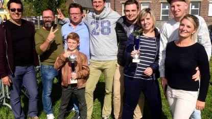 De mannen van de Viergatenstraat winnen de kubb-finale