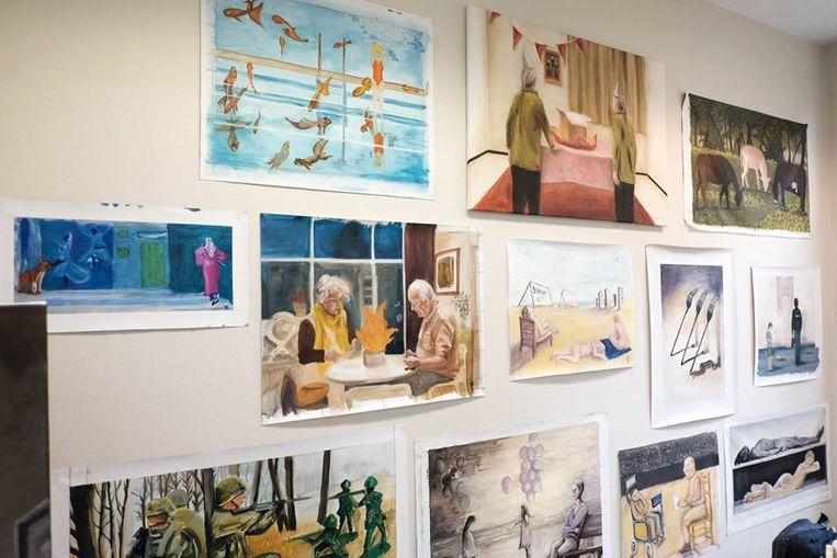 Een expo van de Academie Beeldende Kunsten Nijlen.