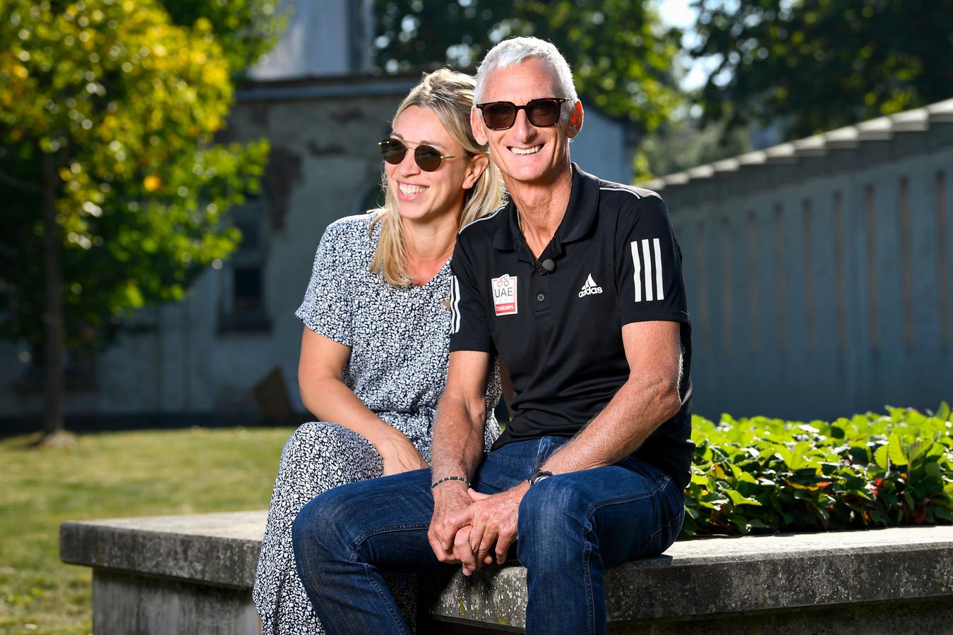 Allan Peiper met partner Katrien vandaag in Gent.
