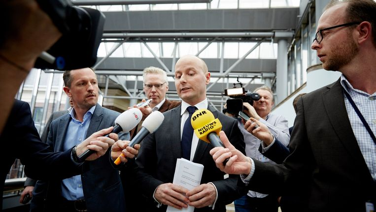 Mark Verheijen wordt in 2015 bevraagd over zijn declaraties. Beeld anp
