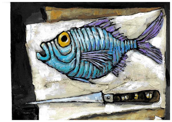 Wim Hofman illustratie rubriek 19 april: Goede Vrijdag
