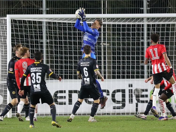 Jong PSV pakt knap punt tegen Roda JC