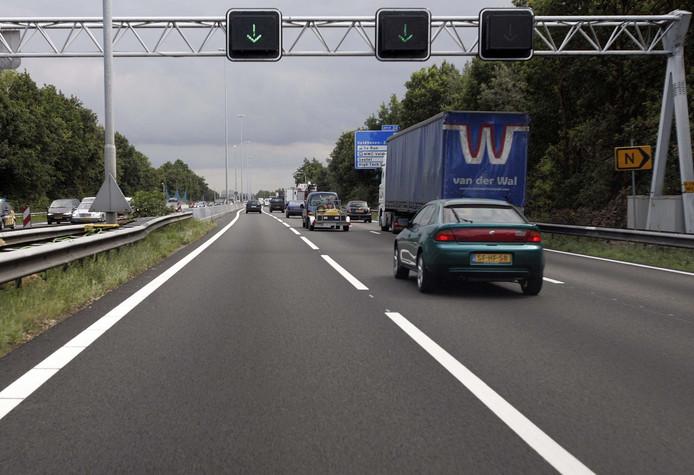 De weg bij Eindhoven.