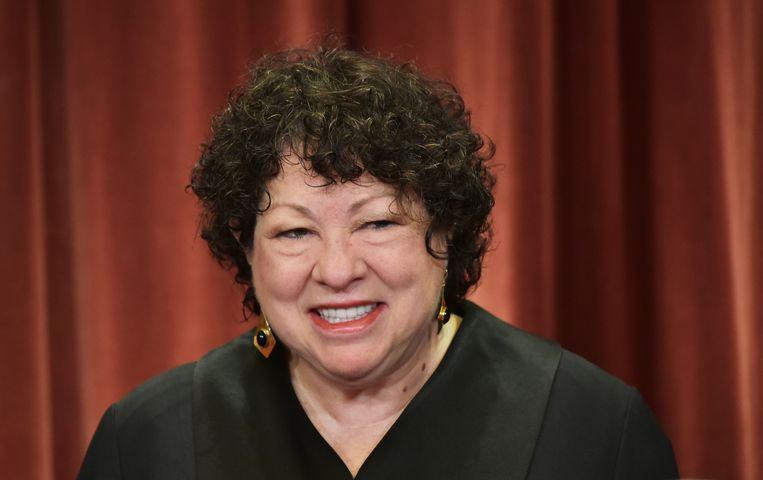 Sonia Sotomayor was de enige rechter die tegen beëindiging stemde. Beeld AFP