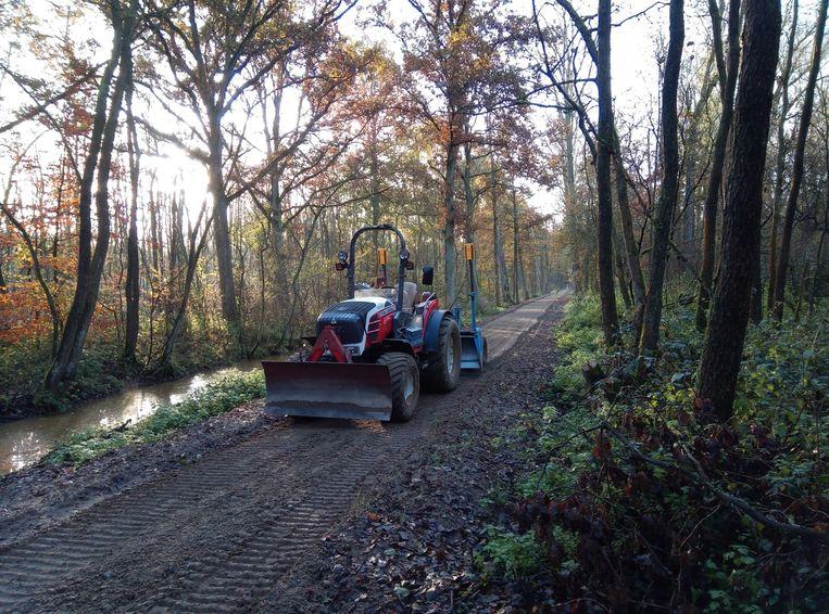 Het Vlonderpad in Oelegem werd in november aangelegd.