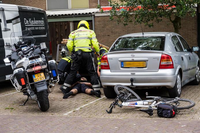 De politie arresteerde drie jongeren.