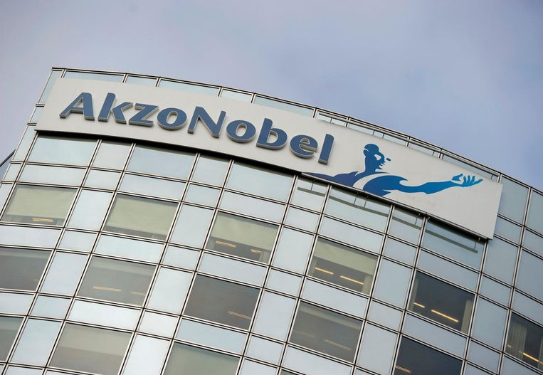 Akzo Nobel's logo in Amsterdam Beeld reuters