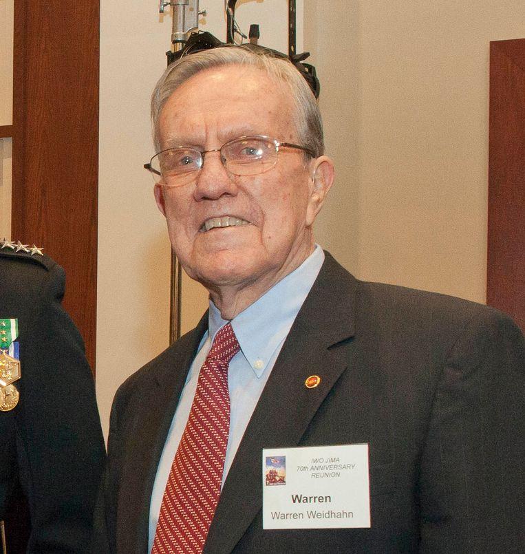 Warren Wiedhahn in 2015. Beeld HQMC Combat Camera