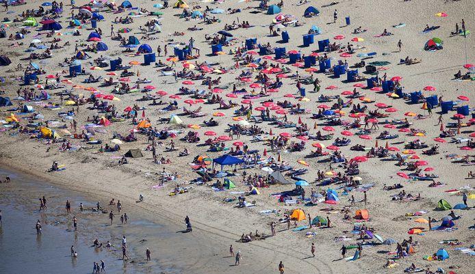 Het strand in Katwijk