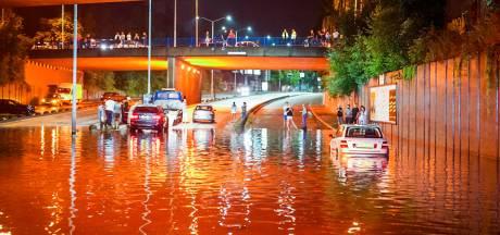 Wateroverlast door noodweer in Brabant en Zuid-Holland