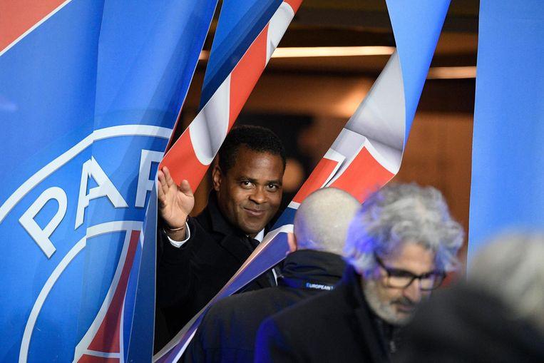 Kluivert als directeur van Paris Saint-Germain. Beeld epa