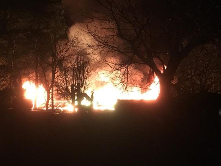 De verwoestende brand in de chirolokalen van Aarschot.