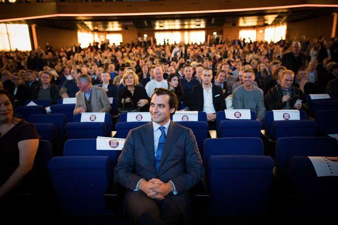Thierry Baudet tijdens een partijcongres van Forum voor Democratie.