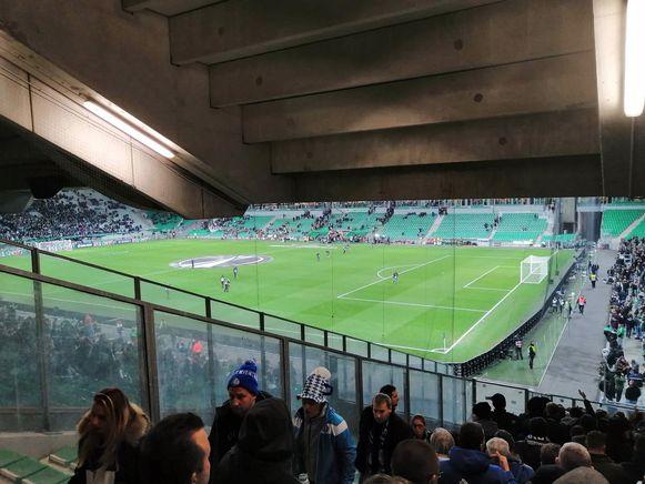 Buffalo's in het stadion van Saint-Etienne. Daar was de sfeer wel fantastisch. Buiten het stadion een pak minder.
