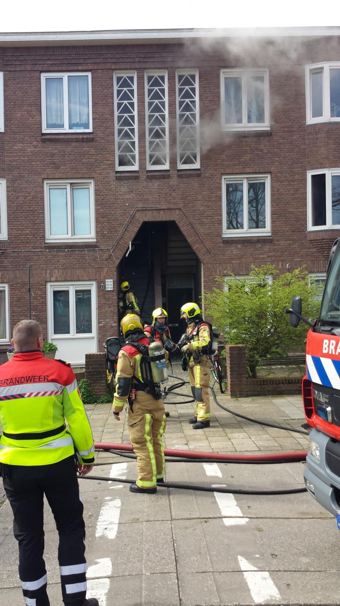 Keukenbrand in Drebbelstraat