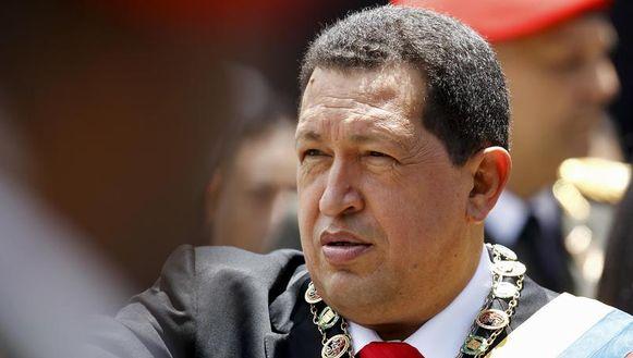 De president van Venezuela Chavez