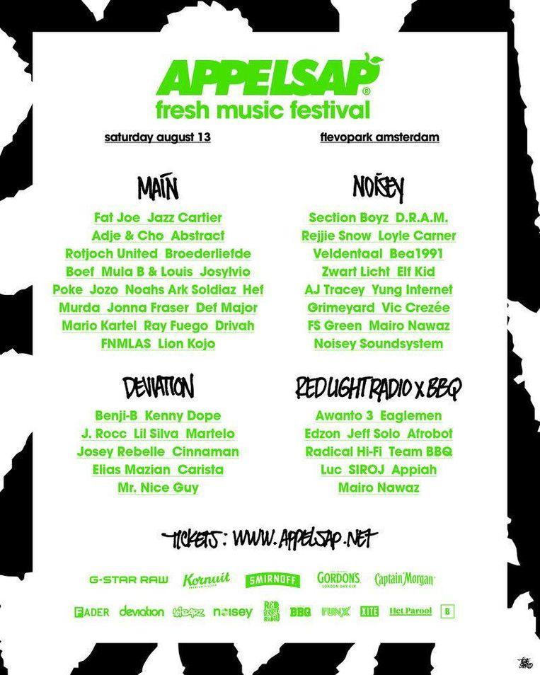 Line-up Appelsap Beeld -