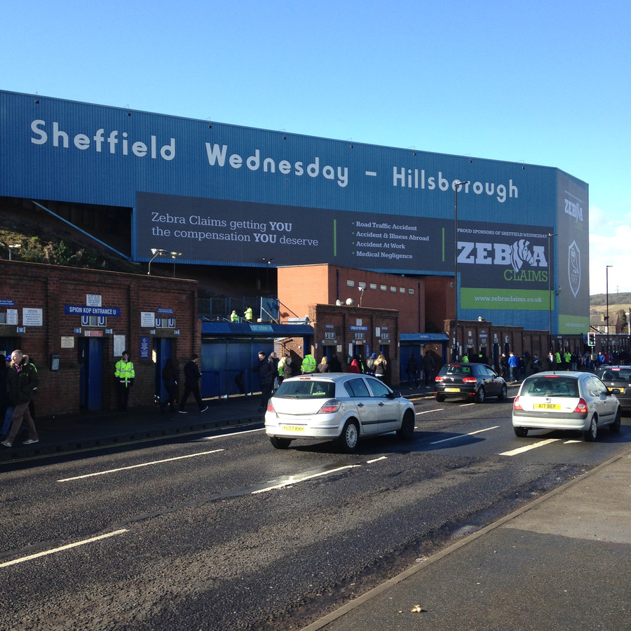Hillsborough, het stadion van Sheffield Wednesday.