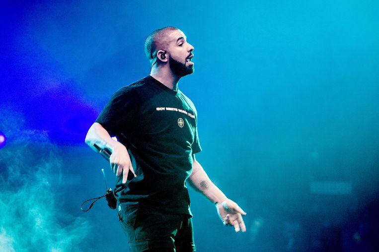 De Canadese rapper en zanger Drake, tijdens een optreden in de Ziggo Dome in Amsterdam vorig jaar. Beeld ANP Kippa