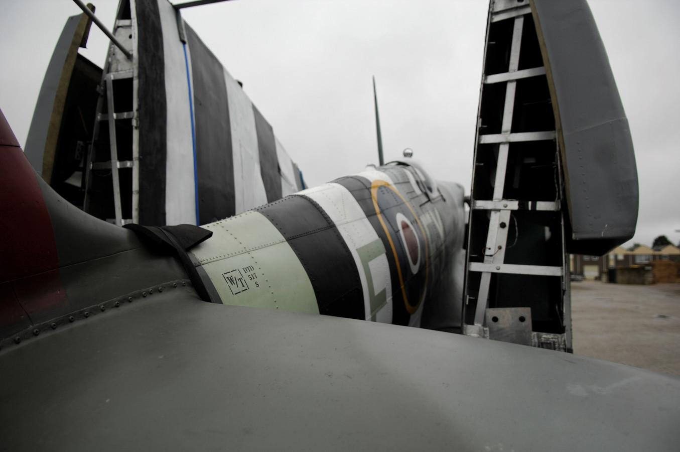 De in Renkum gearriveerde Spitfire.