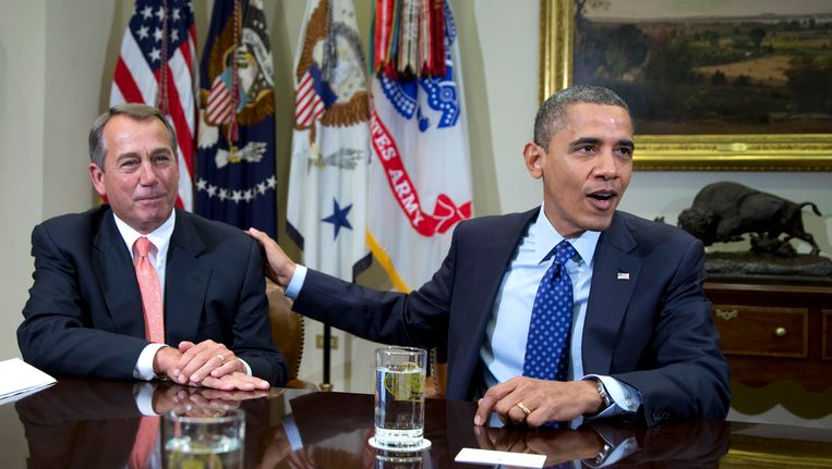 John Boehner en Barack Obama half november, kort na Obama's herverkiezing als president. Beeld AP
