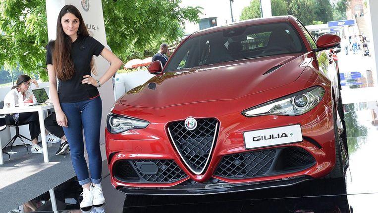 De Alfa Romeo Guilia. Beeld epa
