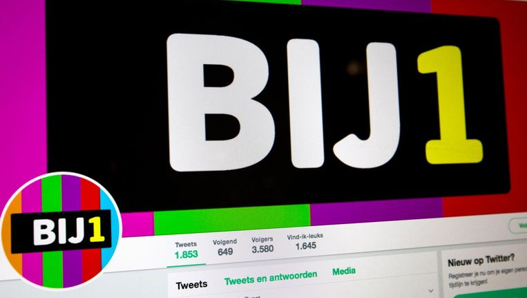 De twitterpagina van Bij1 Beeld anp