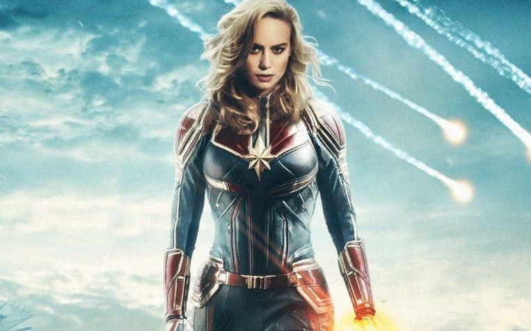 Brie Larson als Captain Marvel Beeld