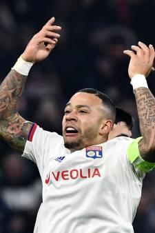 Memphis Depay schiet Olympique Lyon naar knock-outfase