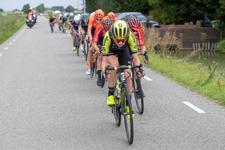 Annemiek van Vleuten probeerde er alles aan te doen, maar ze kon de Boels Ladies Tour dit jaar niet winnen. De zege was voor de Luxemburgse Christine Majerus. Beeld BSR Agency