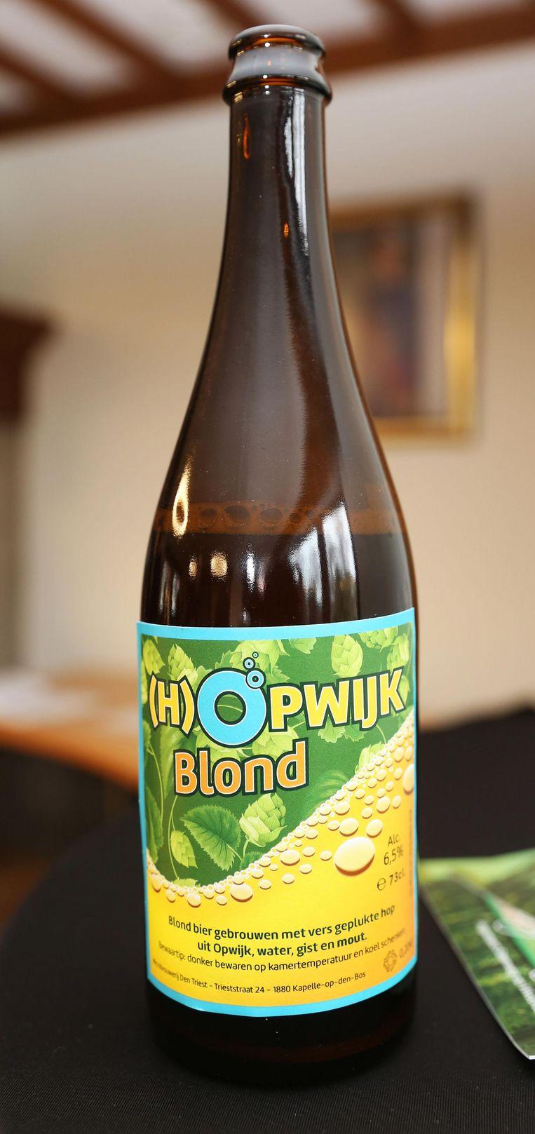 Het gemeentelijk biertje (H)Opwijk Blond werd gebotteld in flessen van 75 centiliter. Het etiket werd gemaakt in de blauw-gele kleuren van de gemeente.