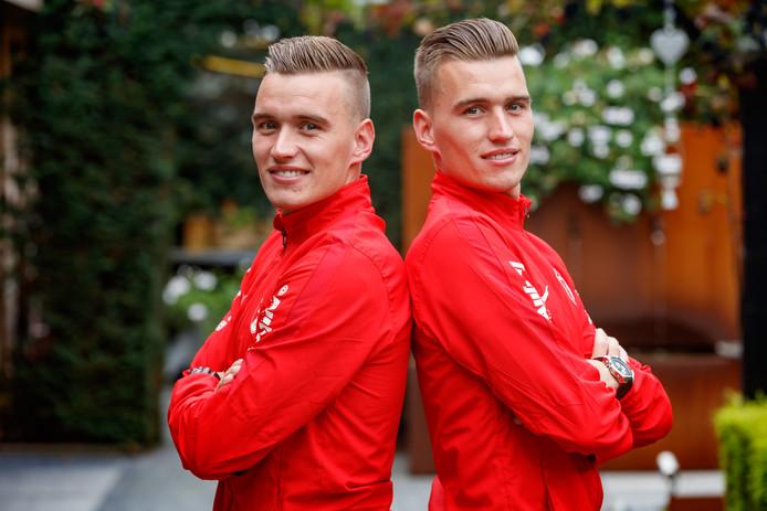 Sander (links) en Jens (rechts) Wirix verlaten Rood-Wit en zetten hun carrière voort bij Baronie.