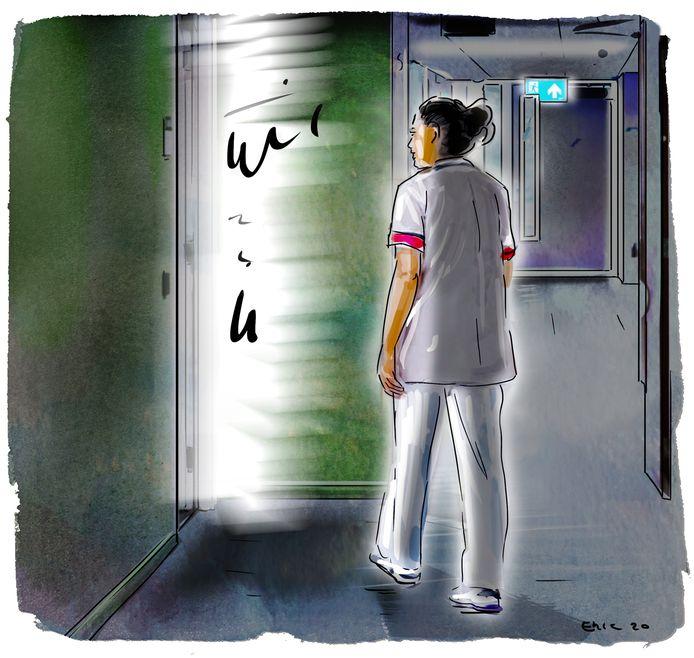 De verpleegkundige heeft tot op de dag van vandaag last van het incident.