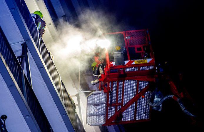 De brand in Ommoord kostte de 62-jarige bewoner van de flat het leven.