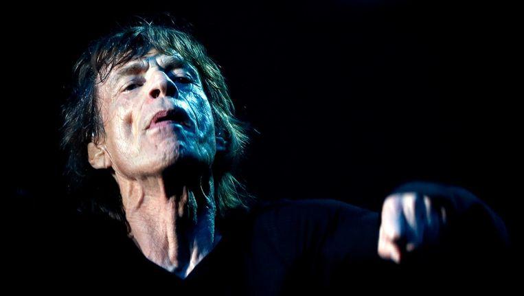 Mick Jagger van de Rolling Stones, tijdens een concert eerder deze week in Shanghai. Beeld afp