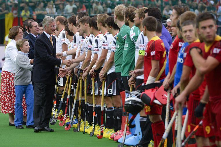 Een beeld van het EK hockey in het Belgische Boom van afgelopen zomer. Beeld belga