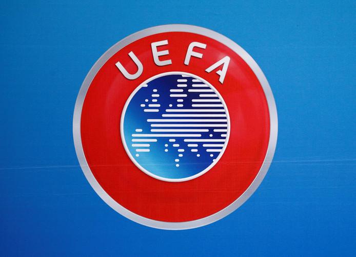 Het logo van de UEFA.