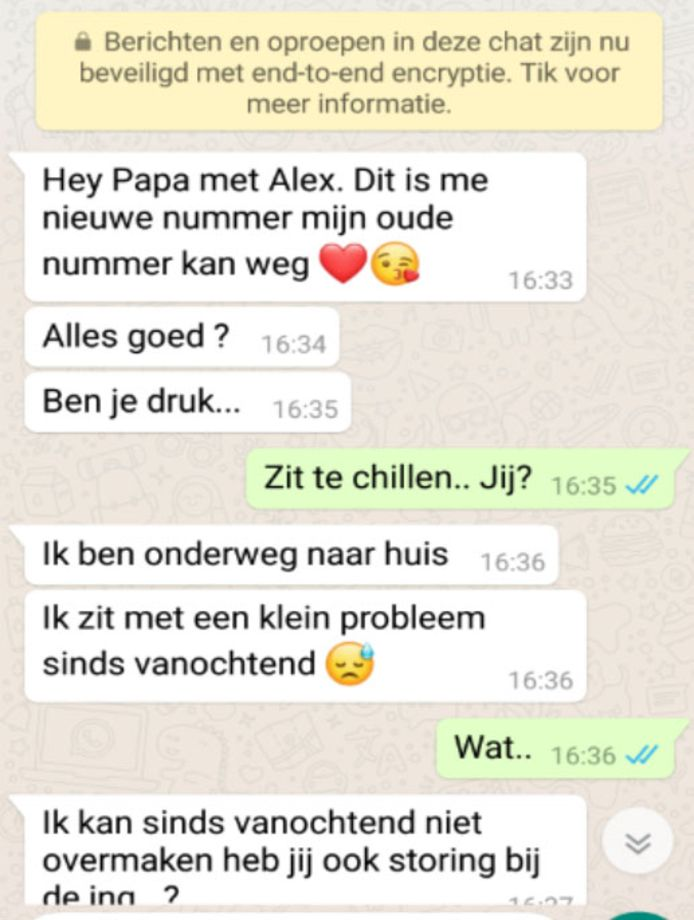 Paul van den Heuvel werd door zijn  'dochter' opgelicht via WhatsApp