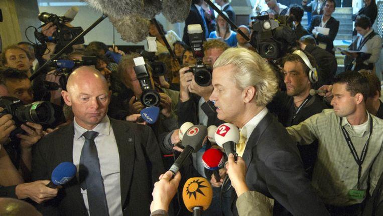 Journalisten moeten van de PVV hun BSN-nummer geven als ze zich aanmelden voor een persconferentie. © ANP Beeld
