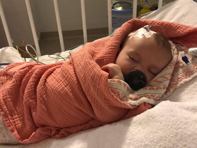 """""""Onze roze wolk is een onweer geworden"""": baby Louize moet twee operaties ondergaan door hersentumor"""