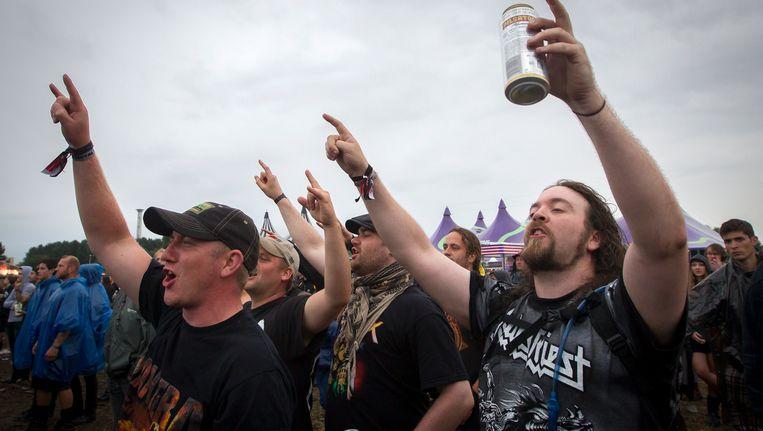 Muziekfans tijdens de 19de editie van Graspop Metal Meeting vorig jaar.