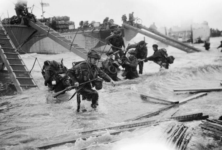 Archieffoto van D-Day. Beeld getty