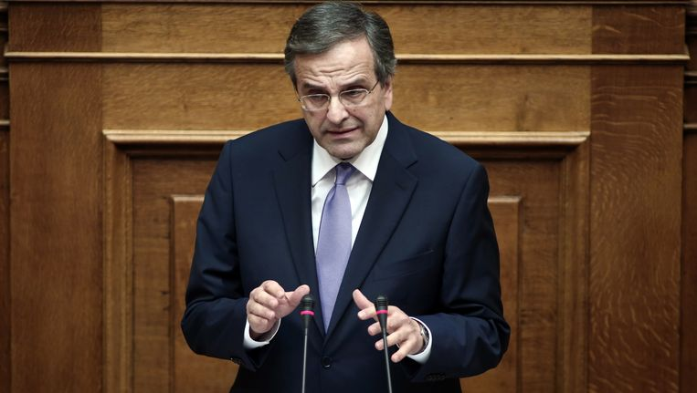 De Griekse premier Samaras.