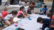 500 kinderen bouwen pop-upstadstuin om tot kunstatelier