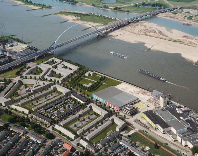 De nieuwe wijk Batavia in Nijmegen-West.