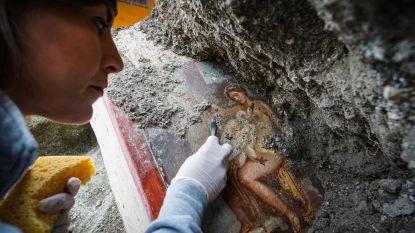 Archeologen leggen nieuw fresco in Pompeii bloot