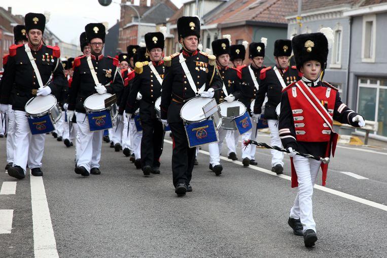 De Koninklijke Soldatenclub Congo bij de start van de Sint-Veroonmars in 2018.