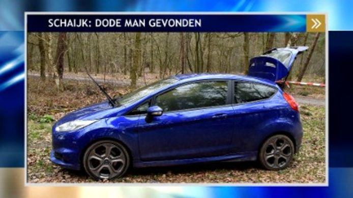 De blauwe Ford Fiesta