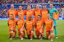 De Nederlandse vrouwen bij de WK-finale in 2019.
