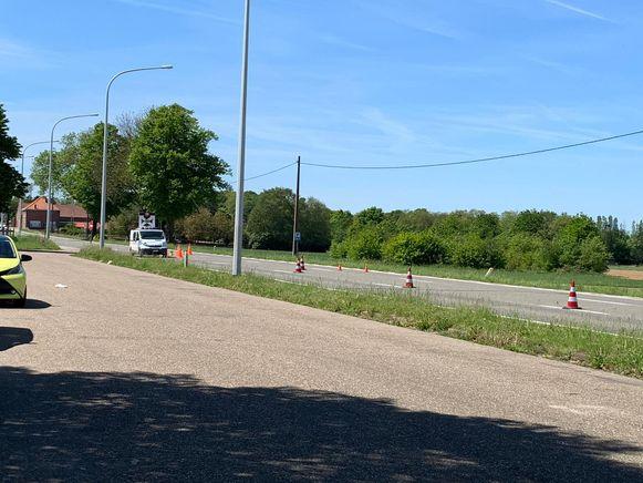 Politie sloot de Diestsesteenweg af voor de nodige vaststellingen